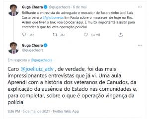 Guga Chacra no Twitter
